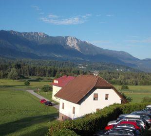 Aussicht vom Zimmer Ferienwohnungen Theresienhof
