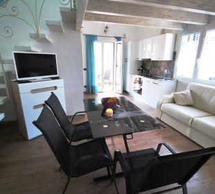 Wohnküche Wohnung ARANCIO Holiday Residence Rifugio