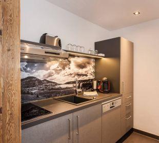 Küchenzeile im Apartment Hierlhof