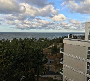 Blick von der Dachterasse nach Osten Strandhotel Fischland