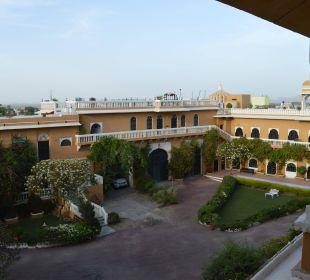 Blick in den Hof Hotel Deogarh Mahal