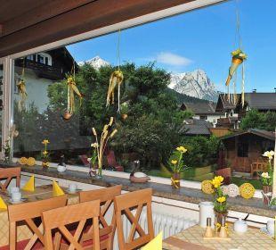Ausblick vom Frühstücksraum Hotel Trifthof