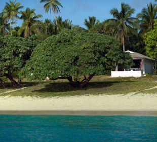 Unsere Bungalows (Fale) liegen direkt am Strand Sandy Beach Resort Tonga