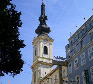 Karmeliterkirche nebenan Hotel Stefanie