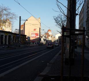 Straße zur Stadt