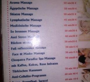Massagepreisliste