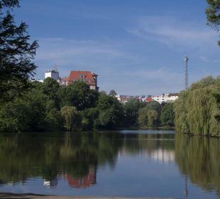 Lietzenseepark direkt gegenüber der Pension Pension Am Park