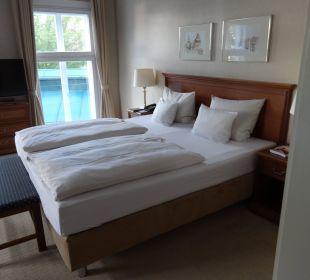 Bett im Zimmer 223 Romantik Hotel Bergström