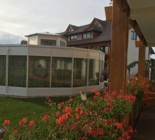 Ausblick vom Balkon Ringhotel Krone Schnetzenhausen
