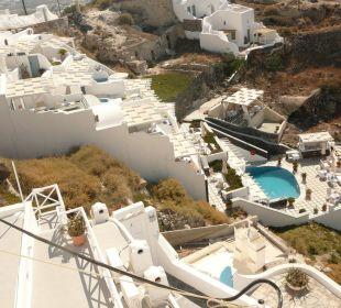 Das gesamt Hotel an der Caldera