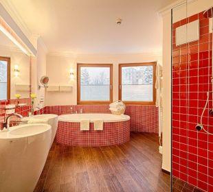 Romanikbadezimmer / Turmsuite Hotel Pulverer