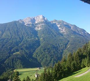 Blick vom Zimmerbalkon Pension Alpenhof Strenge