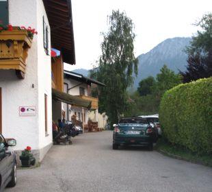 Der Parkplatz Gästehaus Watzmannblick