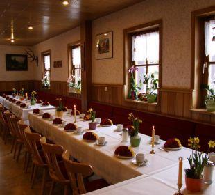 Feierlichkeiten im Gastraum Gasthof Brauner Hirsch Sophienhof
