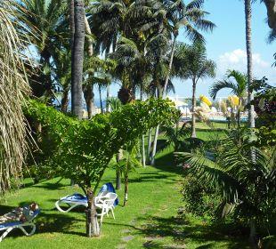 Liegewiese im Garten Hotel Tigaiga