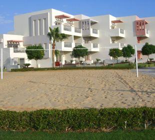 Hotel aus Richtung Strand