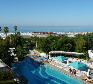 Blick von Zimmer 4212 (Doppelzimmer Meerblick) Sensimar Side Resort & Spa