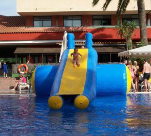 Rutsche im Pool Villa Romana