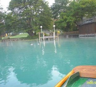 Vom Ruderboot aus Inselhotel Faakersee