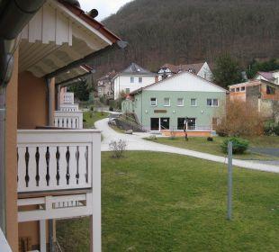 Blick vom Balkon Ferienpark Bodetal