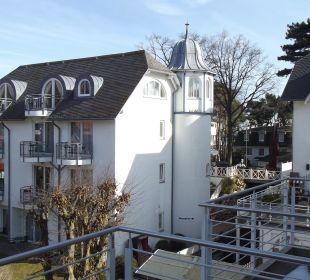 Blick vom Balkon Hotel Villa Gropius
