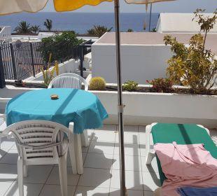 Terrasse und Aussicht von Nr. 21 Bungalows & Appartements Playamar