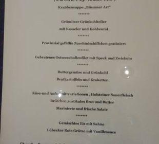 Abendessen im Restaurant Carat Golf & Sporthotel Residenz