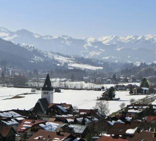 Blick vom Balkon Richtung Bad Oberdorf Hotel Prinz - Luitpold - Bad