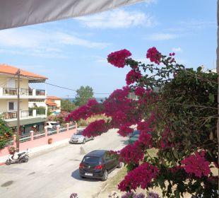 Blick vom Balkon Apollon Xenonas Apparthotel