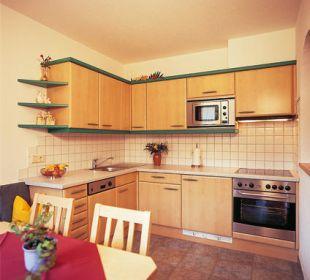Vollausgestattete Küche Appartement Leutasch Landhaus Karoline Wohlfühl-Ferienwohnungen