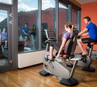 Fitness mit Panoramablick Hotel Cervosa