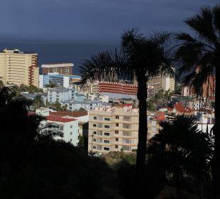 Blick vom Zimmer 121 Richtung Puerto de la Cruz Hotel Tigaiga