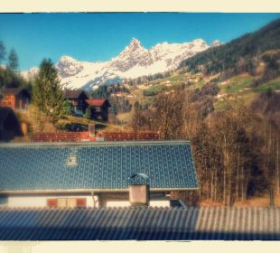 Ausblick vom Zimmer Hotel Bergkristall