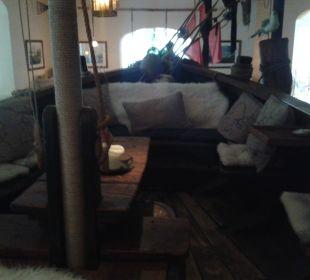 Ein Schiff als Bar Hotel Villa Granitz