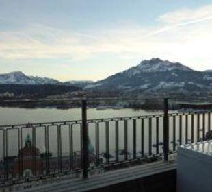 Aussicht auf den Vierwaldstättersee Art Deco Hotel Montana Luzern