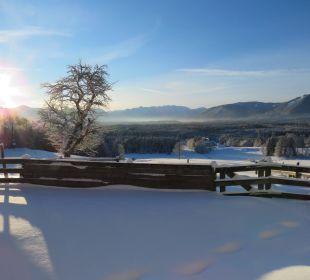 An einem Wintermorgen Biohof Rechenmacher