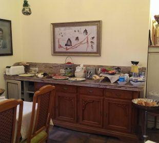 Teil des Frühstücksbuffets Pension Anzengruber