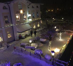 Abendaufnahme Winter Hotel Luitpold am See 1&2