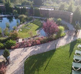Der Naturteich im Chill-Out-Garten Wellnesshotel Reischlhof