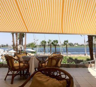 Frühstück auf der Nilterrasse Achti Resort Luxor