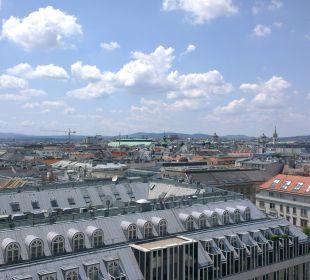 Ausblick von Raucher-Terrasse Hotel Am Parkring