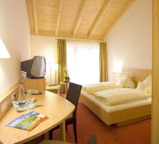Zimmer mit Sichtdachstuhl Hotel Gasthof Unterwirt