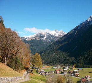 Blick von der Fewo auf die Walserberge Ferienhaus Müller