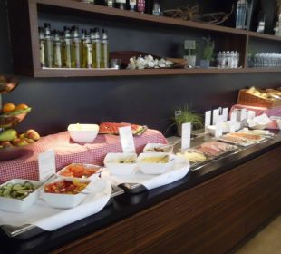 Teil des Frühstücksbüffet arcona Hotel am Havelufer
