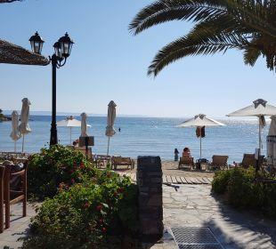 Blick auf den Strand Anthemus Sea Beach Hotel & Spa