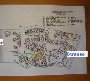 Plan von Hotelanlage Hotel Horizon Beach Resort
