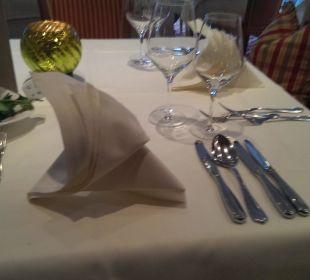Beim Abendessen Wohlfühlhotel Ortnerhof