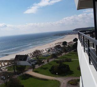 "Blick aus dem 9. Stock des Hotels ""Carat"" Carat Golf & Sporthotel Residenz"