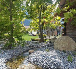 Außensauna im Garten Hotel Hanswirt