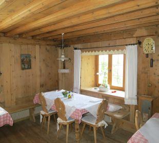 Alte Bauerstube - Frühstücksraum und Abendessen Pension Mairhof